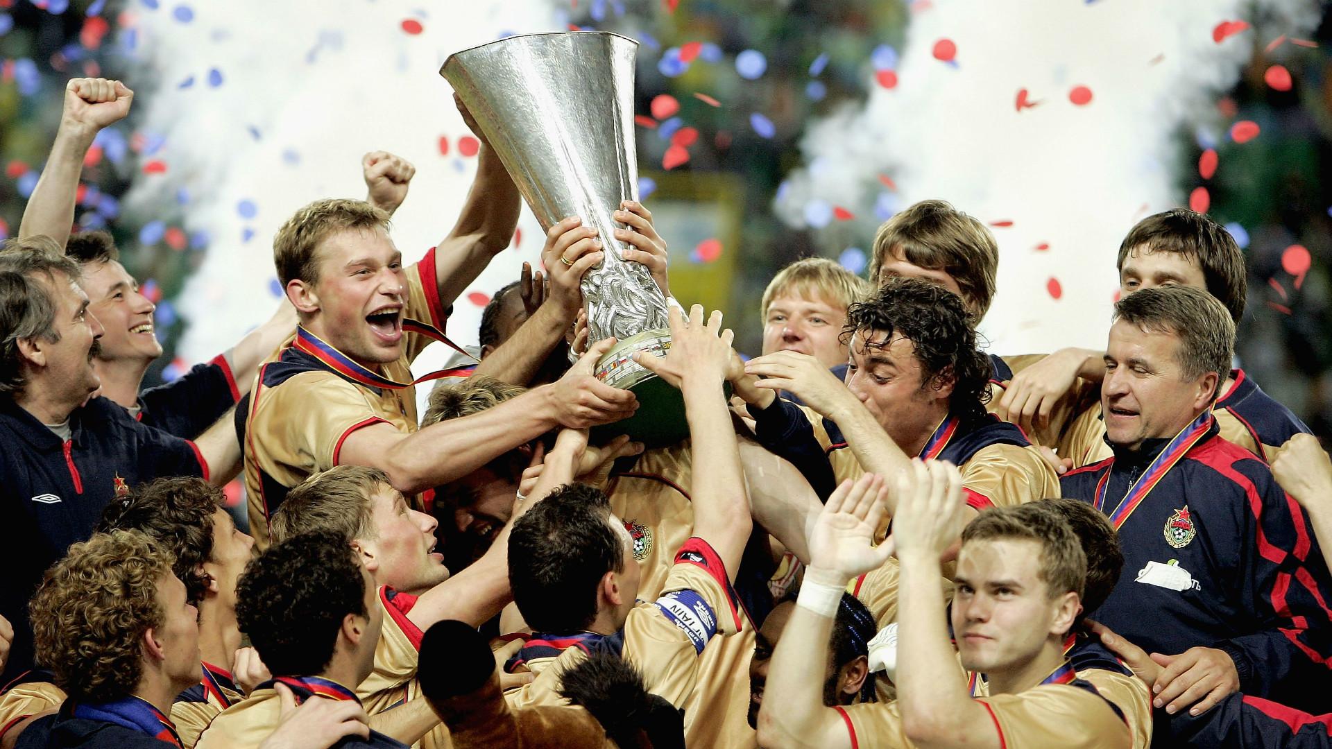 Армейцы празднуют победу в кубке УЕФА