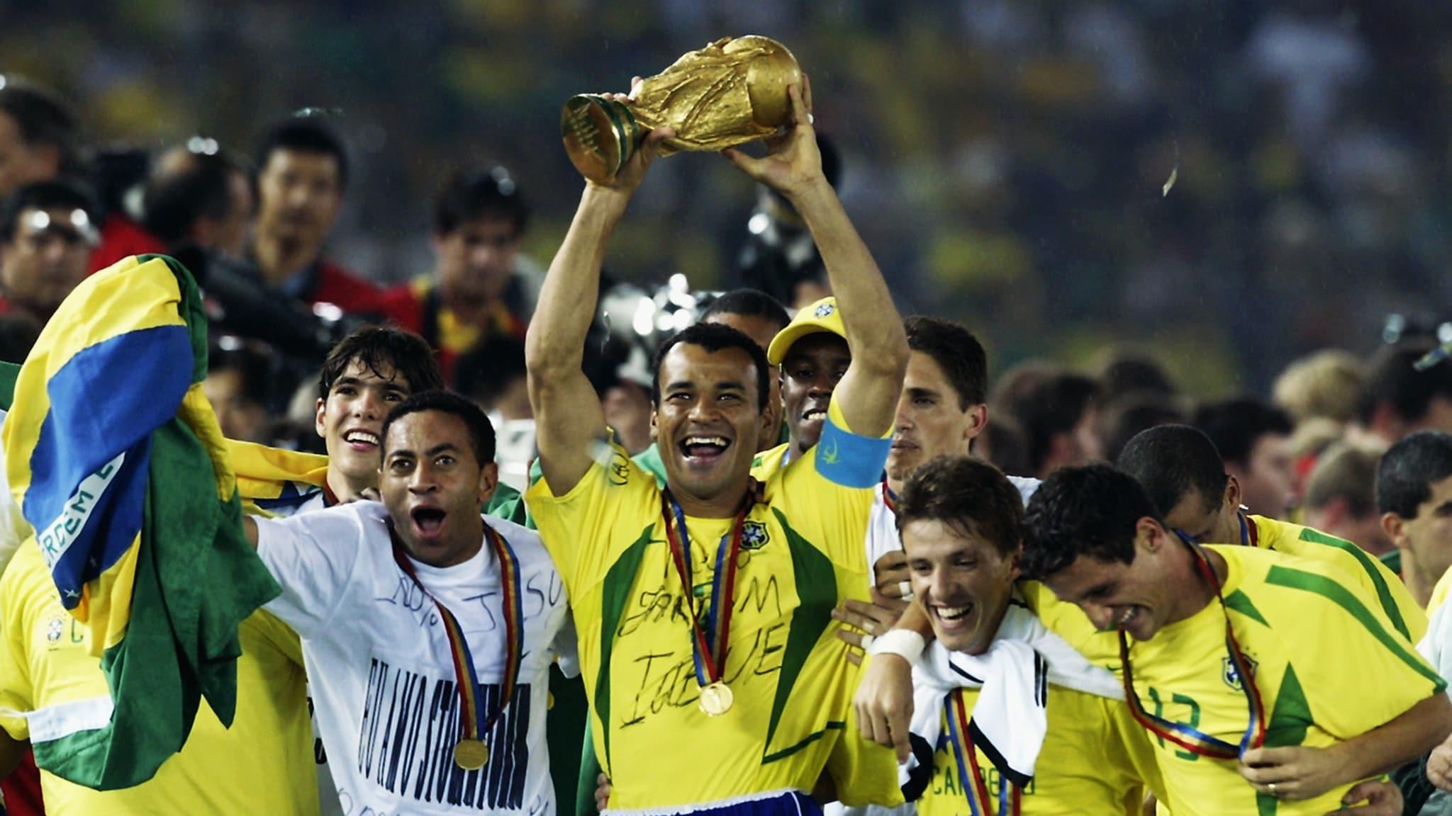 Победители ЧМ 2002 - игроки сборной Бразилии